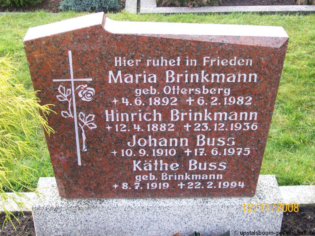 grabstein von k the buss geb brinkmann friedhof spetzerfehn kirche. Black Bedroom Furniture Sets. Home Design Ideas